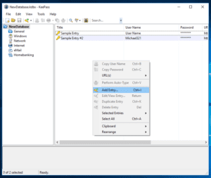 Create First Password Entry in KeePass Database by Ellis Benus with Floating Ax Technologies Web Design and Development